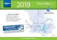 Fahrplanheft allgäumobil 2019