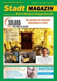 Stadt-Magazin Eitorf, Windeck, Ruppichteroth - Dezember 2018