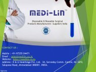 Medilin is  one of the leading Indian manufacturer of Disposable Gown, Reusable Surgical Products, Surgical Gowns.