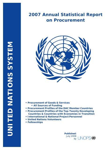 E:ASR 2007SR Cover 2008 Front - United Nations Global Marketplace