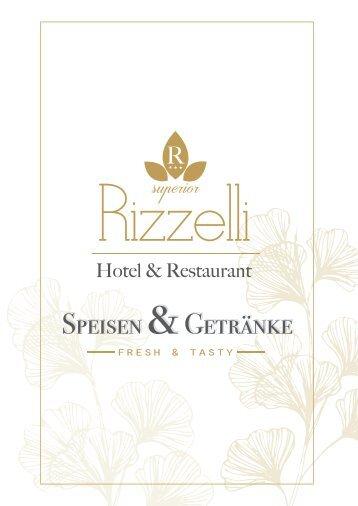 Speisekarte Restaurant Rizzelli