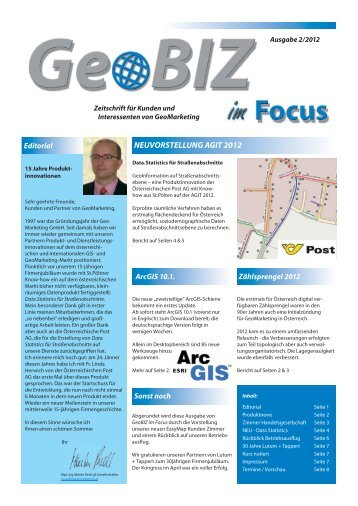 Geo Biz im Focus 02/12 (PDF) - GeoMarketing