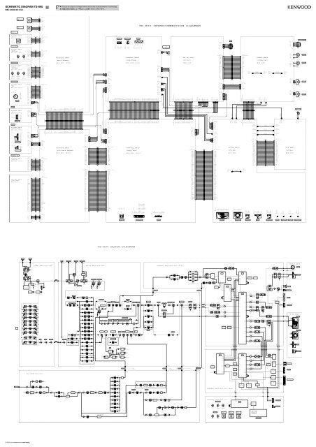 Kenwood TS-890S - Communications English,Japanese Schematic diagrams