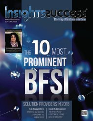 The 10 Most Prominent BFSI Solution Providers In 2018