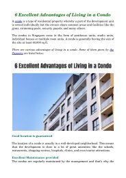 6 Excellent Advantages of Living in a Condo