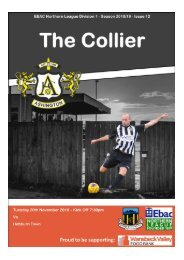 2018/19 #12 - 20th November 2018 - Ashington v. Hebburn Town