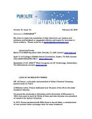 Volume 10; Issue 1/2 February 25, 2010 Welcome to - Purolite.com