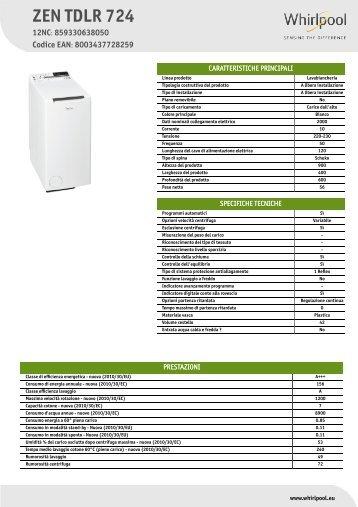 KitchenAid ZEN TDLR 724 - ZEN TDLR 724 IT (859330638050) Informations produit