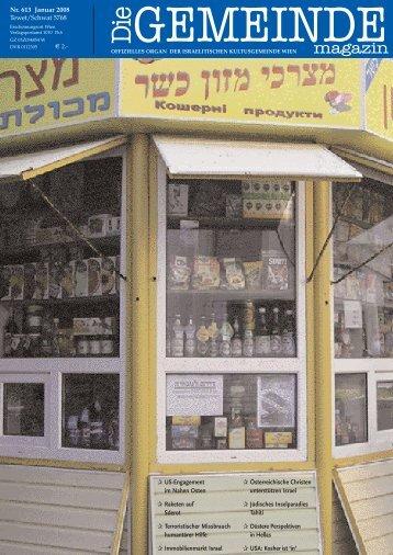 Januar 2008 als pdf herunterladen - Israelitische Kultusgemeinde ...