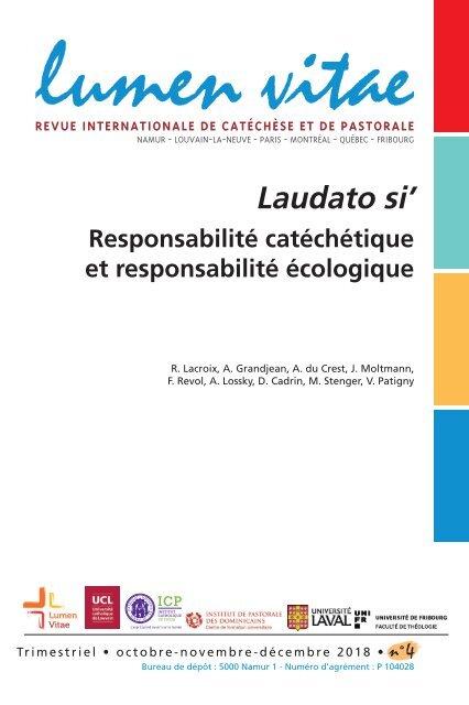 Laudato si' : Responsabilité catéchétique et responsabilité écologique