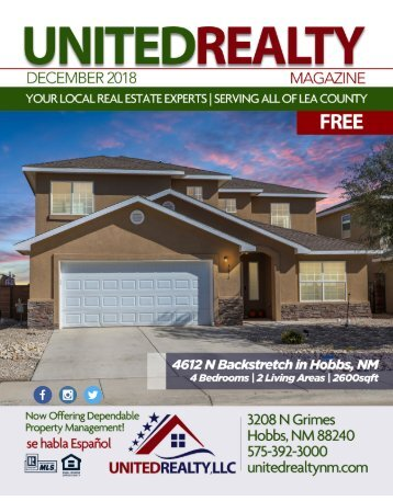 United Realty Magazine December 2018