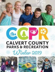 Calvert County, Maryland Parks & Recreation Winter Guide 2019