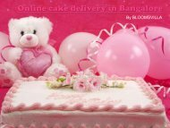 Delicious cake delivery in Bangalore
