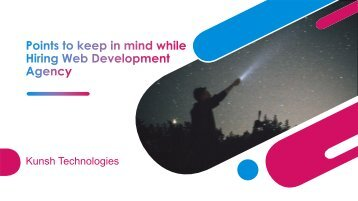 Points to keep in mind while Hiring Web Development Agency