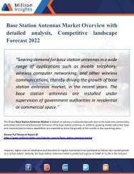 Base Station Antennas Market Region, Production, Consumption, Revenue, Market Share and Growth Rate to 2022