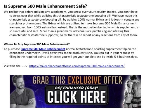 Supreme 500 Male Enhancement - Supports you in your sexual execution