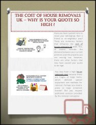 The Cost Of House Removals UK