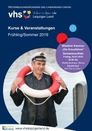 Kursprogramm VHS Leipziger Land Frühjar-Sommer 2019