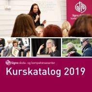 Kurskatalog 2019 Signo skole- og kompetansesenter