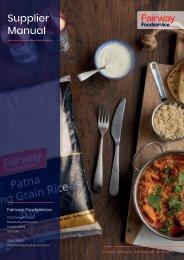 Fairway Foodservice Supplier Manual