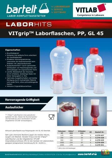 VITgripTM Laborflaschen, PP, GL 45
