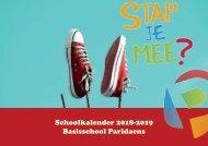 schoolkalender 2018-2019 ParidaensBaO