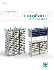 H+H FlexShelf - Shelf System / USA