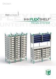 H+H FlexShelf - Regalsystem / Deutsch