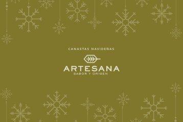Catálogo Canastas Navideñas 2018, Artesana, Sabor y Origen