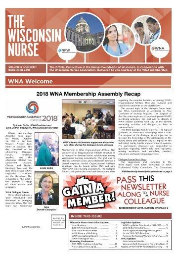 The Wisconsin Nurse - December 2018