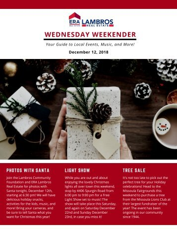 Wednesday Weekender - 12.12.18
