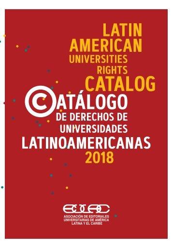 Catalogo de Derechos Universidades Latinoamericanas 2018