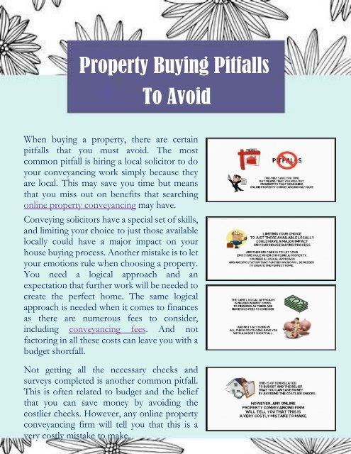 Property Buying Pitfalls To Avoid