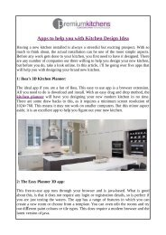 Apps to help you with Kitchen Design Idea