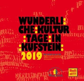 Kulturverein Wunderlich Programm 2019