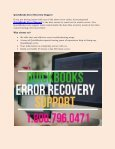 QuickBooks Error Recovery Support : 1800-796-0471 - Page 2