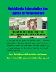 QuickBooks Subscription has Lapsed for Some Reason