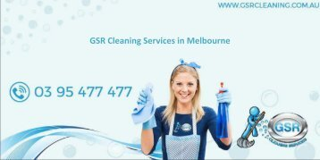 GSR Cleaning Services in Melbourne