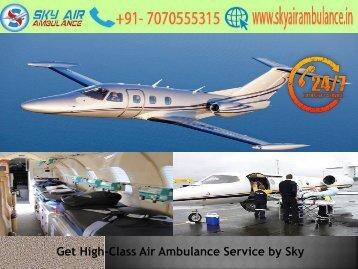 Avail Credible Shifting by Sky Air Ambulance Service in Bagdogra