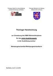 Thüringer Handreichung zur Umsetzung des KMK - Thillm