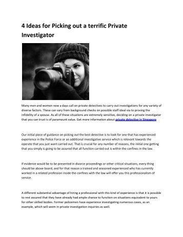6 private investigations
