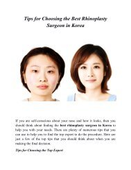Tips For Choosing The Best Rhinoplasty Surgeon In Korea