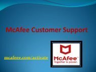 McAfee activate support visit mcafee.com.activate