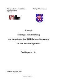 (Entwurf) Thüringer Handreichung zur Umsetzung des KMK - Thillm
