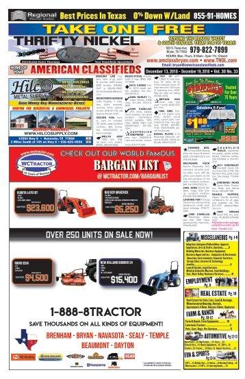 Thrifty Nickel Bryan Dec. 13th Edition Bryan/College Station