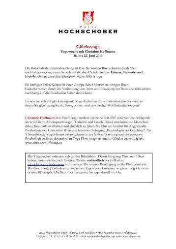 HS Programm Christine Hoffmann_Glücksyoga 2019