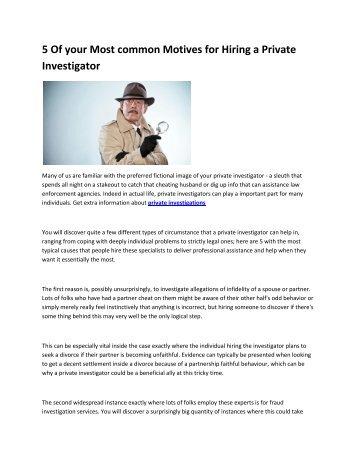 6 private detective