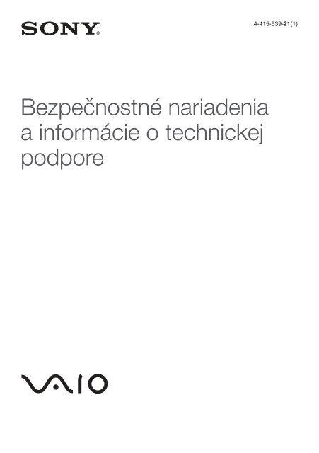 Sony VPCZ23K9E - VPCZ23K9E Documenti garanzia Slovacco
