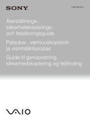 Sony VPCZ23K9E - VPCZ23K9E Guida alla risoluzione dei problemi Danese