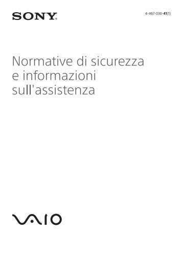 Sony VPCZ23K9E - VPCZ23K9E Documenti garanzia Italiano